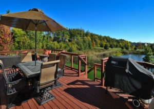 Wood Deck with Aluminum Balusters Lake County