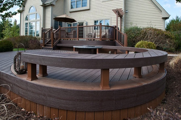 RSB Custom Curve Deck with Fire Pit