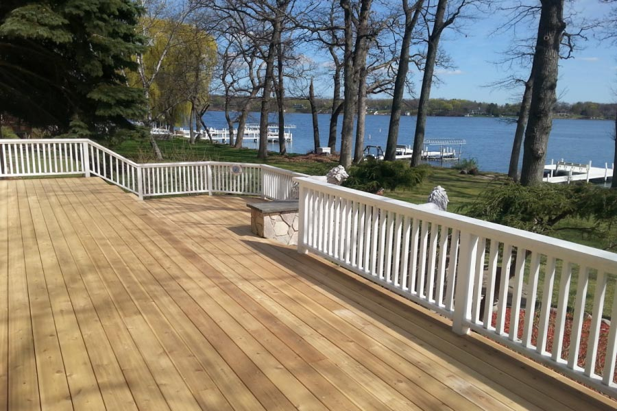 Photo galleries wood decks rock solid builders inc for Cedar decks pros and cons