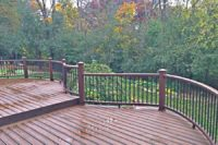 Spiced Rum Trex® Deck with Curved Vintage Lantern Rails Wadsworth