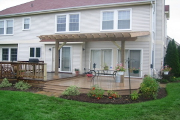 Attached Wood Pergola Crystal Lake