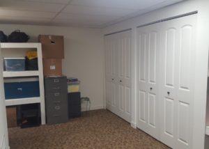 Basement Double Closet