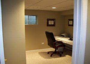 Basement Office Remodel Wauconda