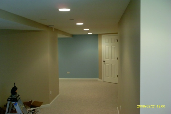 Basement Remodel with Drywall Ceiling