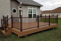 Beach Dune Trex® Enhance Deck with Trex® Reveal Bronze Railing Lake County