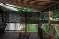 Black Lattice Privacy Panels on Trex® Deck McHenry County