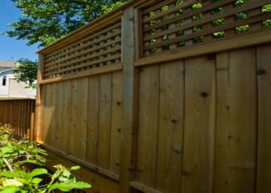 Cedar Deck Privacy Wall McHenry County