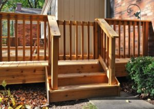 Cedar Deck Railing Gate Marengo