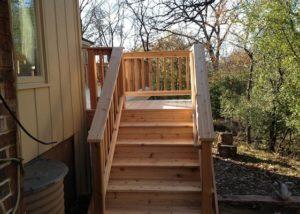 Cedar Deck Stairs Prairie Grove