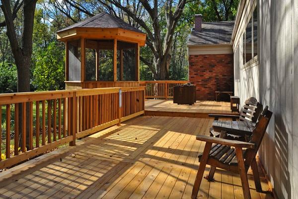 Cedar Deck and Gazebo McHenry County