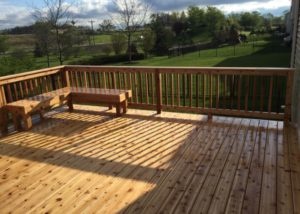 Cedar Deck with Bench Lake County 2