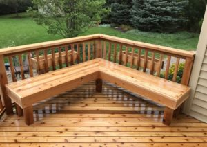 Cedar Deck with Bench and Flower Boxes Lake County