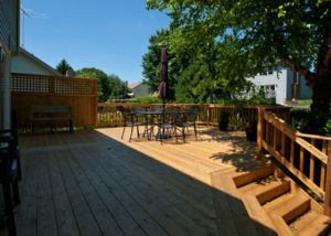 Cedar Deck with Custom Privacy Wall Cary