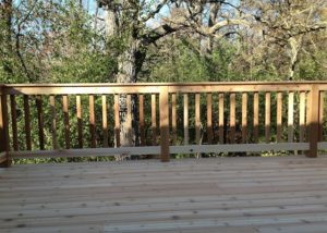 Cedar Deck with Flat Top Railings Prairie Grove