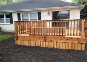 Cedar Deck with Solid Deck Board Skirting McHenry County