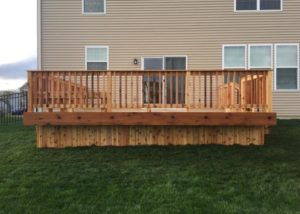 Cedar Deck with Solid Skirting Algonquin