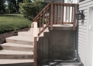 Cedar Front Porch Railing McHenry County