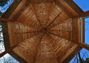 Cedar Gazebo Ceiling Detail McHenry County