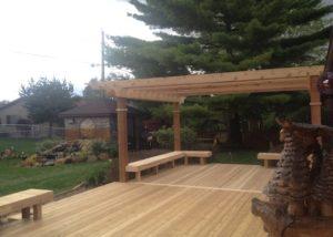 Cedar Pergola and Deck
