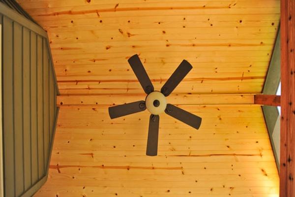 Cedar Screen Room Ceiling Detail
