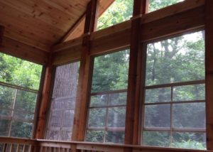 Cedar Screen Room with EZE Breeze Screen Panels McHenry County