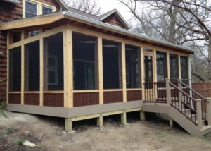 Cedar & Trex® Screen Room Lake Geneva