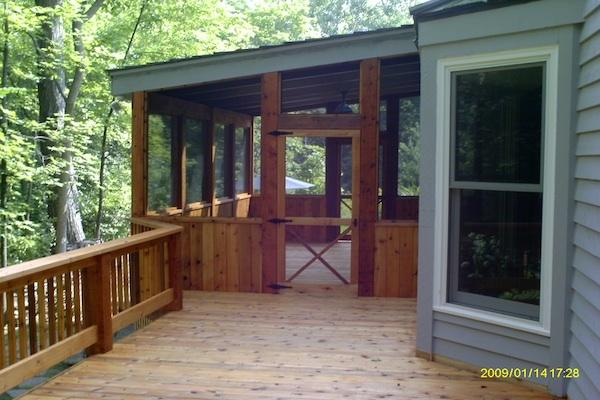 Cedar Wood Deck and Screen Room Lake County