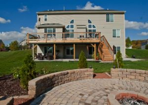 Cedar and Trex® Combination Deck McHenry