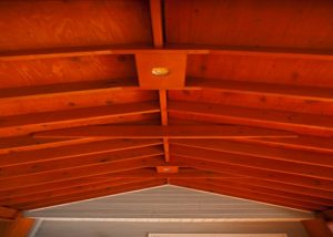 Ceiling Detail for Wood Pavillion Spring Grove