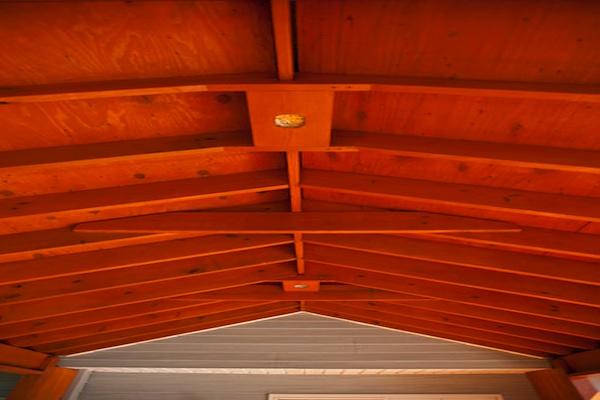 Ceiling Detail for Wood Pavillion Spring Grove