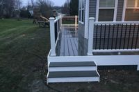Clam Shell Trex® Deck with Box Steps Barrington