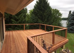 Clear Deck with Black Aluminum Balusters Lake County