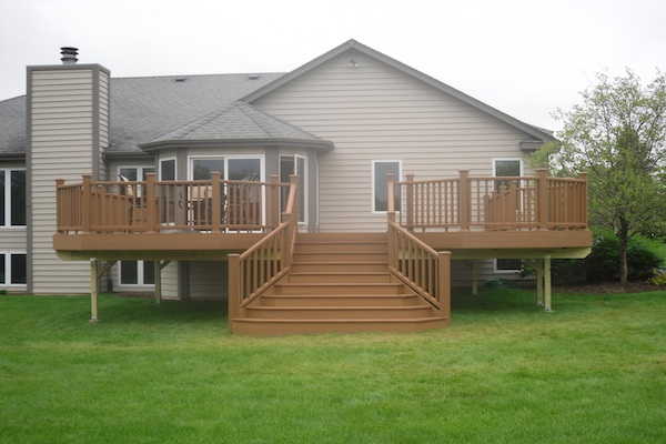 Custom Trex® Deck with Flared Stairs Spring Grove