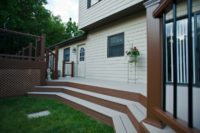 Custom Two-tone Trex® Stairs McHenry