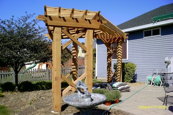 Decorative Garden Pergola McHenry County