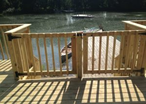 Double Wood Deck Gate McHenry County