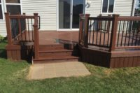 Fire Pit Trex® Deck with Solid Skirting Antioch