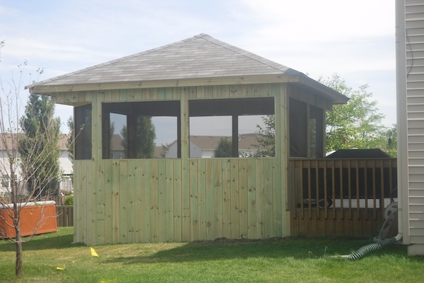 Free-Standing Screen Room McHenry County