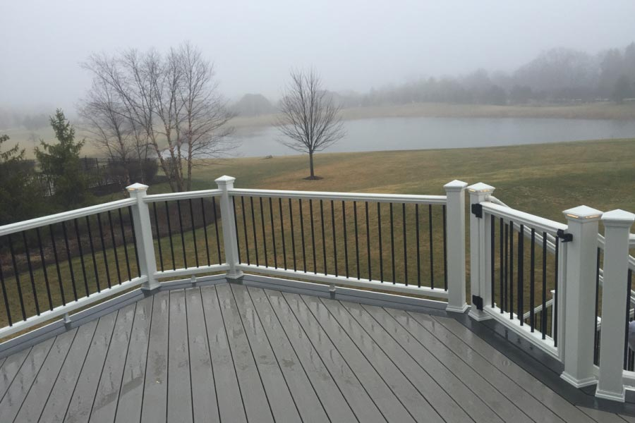 Gravel Path Trex® Deck White Railings Lake County