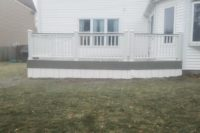 Gravel Path Trex® Deck with White Railings & Skirting Lake County