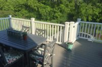Gravel Path Trex® Deck with White Rails and Gate Lake County
