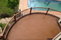 Grayslake Trex® Transcend Tree House and Vintage Lantern Custom Curve Deck