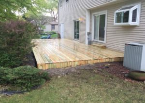 Ground Level Wood Deck Lake County