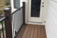Havana Gold Trex® Deck Balcony with Reveal Railings Elgin