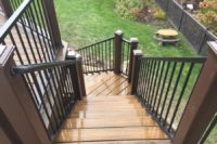 Havana Gold Trex® Deck with Trex® Reveal Aluminum Railings Elgin