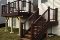 Havana Gold Trex® Deck with Vintage Lantern Railings Elgin