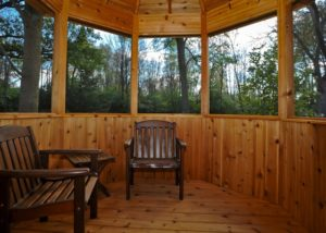 Inside Cedar Gazebo Walls McHenry County