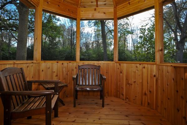 Inside Cedar Gazebo Walls McHenry County