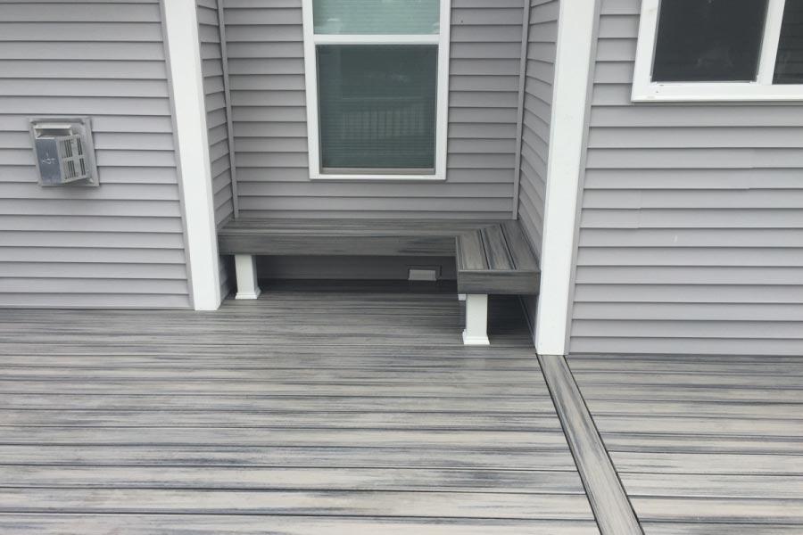 Island Mist Trex® Deck Bench Cary
