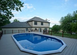 Large Trex® Pool Deck McHenry County